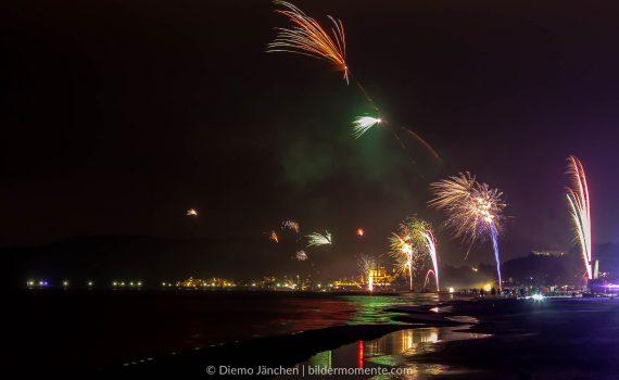Feuerwerk an der Ostsee